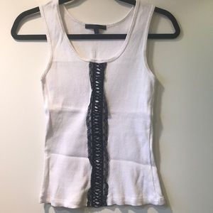 Lace Tie Front Tank Top K2